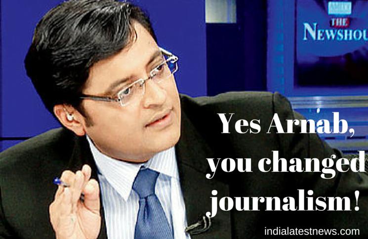 Arnab Goswami and journalism English Media