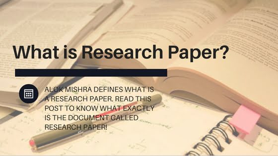 define what a research paper is A substantial piece of academic writing, usually done as a requirement for a class, in which the author does independent research into a topic and writes a description of the findings of that research.