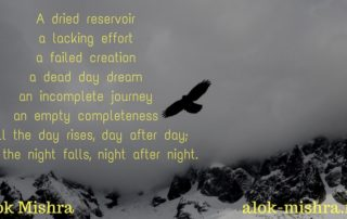 Alok Mishra poems hawk's melancholy