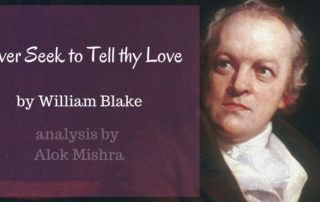 Never Seek to Tell thy Love William Blake analysis