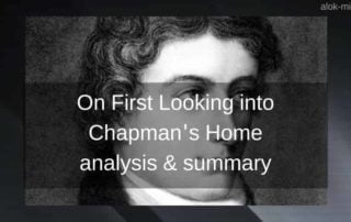 On first looking chapman's home summary