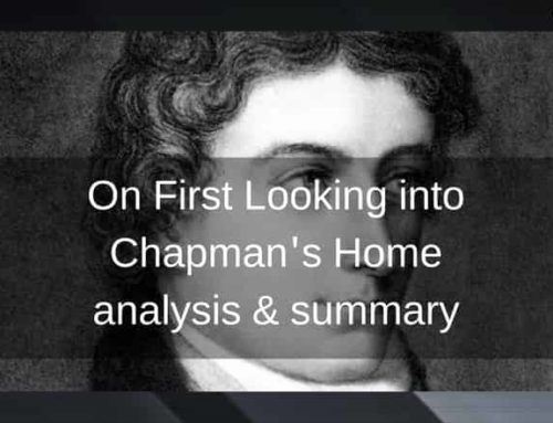 On First Looking into Chapman's Homer – Summary & Analysis