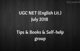 UGC NET July 2018 English Literature guide help