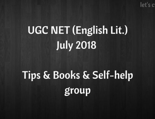 English Literature – UGC NET, July 2018 – Tips, Books & Resources